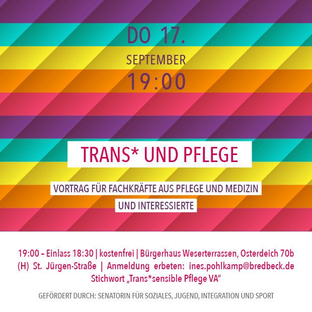 DO 17.9. – 19:00 | Trans* und Pflege – Vortrag für Fachkräfte aus Pflege & Medizin