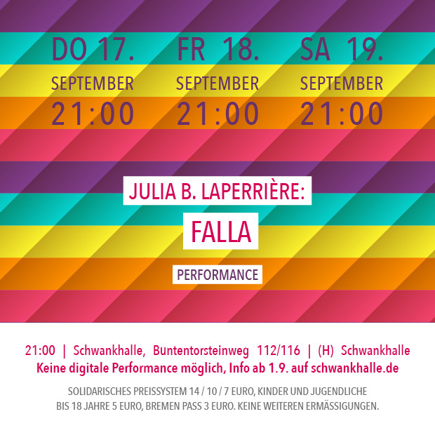 DO 17.9.20 – 21:00 | Julia B. Laperrière: Falla – Performance